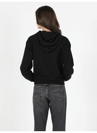 Colin's Regular Fit Kadın Siyah Sweatshirt Siyah